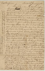 Letter Boston 12th January 1760 P 1