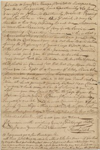 Letter Boston 12th January 1760 P 4
